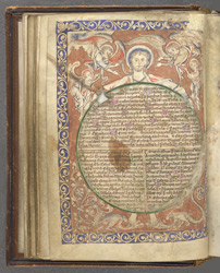 Christ Holding A Description Of The World, In 'The Map Psalter'